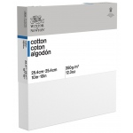 "Winsor & Newton™  Cotton Canvas 10"" x 10"" Deep Edge: White/Ivory, Panel, Cotton, 10"" x 10"", Acrylic, Oil, (model 6201082), price per each"