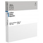 "Winsor & Newton™  Cotton Canvas 12"" x 12"" Deep Edge: White/Ivory, Panel, Cotton, 12"" x 12"", Acrylic, Oil"