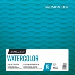 "Grumbacher® Cold Press Watercolor Paper Fold Over 12"" x 12"": 15 Sheets, 12"" x 12"", Watercolor, (model G26460601611), price per each"