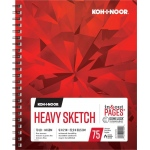 "Koh-I-Noor® Heavy Sketch Paper 9"" x 12"": 75 Sheets, 9"" x 12"", 70 lb, (model K26170101013), price per each"