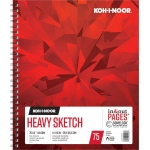 "Koh-I-Noor® Heavy Sketch Paper 11"" x 14"": 75 Sheets, 11"" x 14"", 70 lb, (model K26170101313), price per each"
