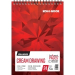 "Koh-I-Noor® Cream Drawing Paper 9"" x 12"": 24 Sheets, 9"" x 12"", 90 lb, (model K26170211012), price per each"
