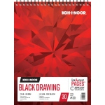 "Koh-I-Noor® Black Drawing Paper 11"" x 14"": 30 Sheets, 11"" x 14"", 70 lb, (model K26170221312), price per each"
