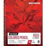 "Koh-I-Noor® Colored Pencil Paper 11"" x 14"": 30 Sheets, 11"" x 14"", 114 lb, (model K26170301313), price per each"