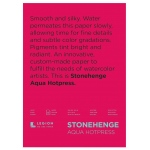 "Stonehenge® Aqua 10"" x 14"" Hot Press Watercolor Block: 12 Sheets, 10"" x 14"", Hot Press, 140 lb, (model L21-SQH140WH1014), price per each"