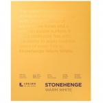 "Stonehenge® Warm White Pads: White/Ivory, 11"" x 14"", 250 g, (model L21-STP250WW1114), price per each"