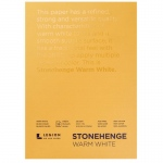 "Stonehenge® Warm White Pads: White/Ivory, 5"" x 7"", 250 g, (model L21-STP250WW57), price per each"