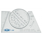 "Ames Ames Lettering Guide: 3 7/8"" x 2 3/8"", Lettering, (model L666), price per each"
