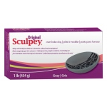 Sculpey® Original Oven Bake Gray Clay 1 lb.: Black/Gray, 1 lb, Oven Bake, (model S01G), price per each