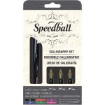 Speedball® Calligraphy Fountain Pen Set: Black/Gray, Fountain, Nibs Included, Calligraphy, (model S2903), price per set