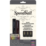 Speedball® Calligraphy Fountain Pen Deluxe Set: Black/Gray, Fountain, Nibs Included, Calligraphy, (model S2904), price per set