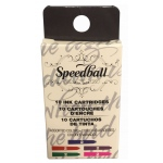 Speedball® Fountain Pen Ink Cart Set - Colors: Assorted, Fountain, Refill, (model S2906), price per set