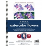 "Strathmore® 200 Series Learning Series Pad Learn Watercolor Flowers: Book, 40 Pages, 9"" x 12"", (model ST25-150), price per each"