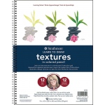 "Strathmore® 200 Series Learning Series Pad Learn to Draw Textures in Colored Pencil: Book, 9"" x 12"", (model ST25-752), price per pad"