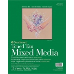 "Strathmore® 400 Series Tan Mixed Media Pad 11"" x 14"": Pad, 15 Sheets, 11"" x 14"", Mixed Media, 184 lb, (model ST462-211), price per 15 Sheets pad"