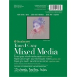 "Strathmore® 400 Series Gray Mixed Media Pad 6"" x 8"": Pad, 15 Sheets, 6"" x 8"", Mixed Media, 184 lb, (model ST462-306), price per 15 Sheets pad"