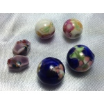 Oriental Embellishments Beads: Dark Blue, White, Purple