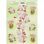 3D Decoupage Cutting Sheets - Flowers