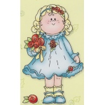 Clear Stamp Bambinie girl with rose