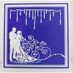 Tattered Lace Die - Bride and Groom
