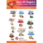 Easy 3D Toppers: Winter Teacups
