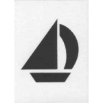 Iris Folding Die cut-sailboat (WM2001)