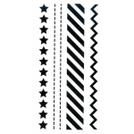 Clear stamp - Border stamp - Stars