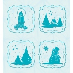 Leane Creatief  - Embossing Folder - Frames Winter
