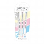 Nuvo Brush Script Pens - Pretty Pastels - 112N
