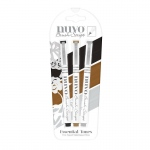 Nuvo Brush Script Pens - Essential Tones - 110N