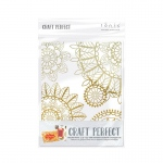 Craft Perfect Foiled Card Blanks - Intricate Henna Set (Gold) - 9401E