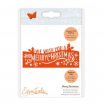 Tonic Studios Christmas Header Fold - Merry Christmas - 1409E