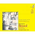 "Strathmore® 300 Series 19"" x 24"" Smooth Tape Bound Bristol Pad: Tape Bound, White/Ivory, Pad, 20 Sheets, 19"" x 24"", Smooth, Bristol, 100 lb"