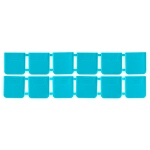 Zerust Anti Tarnish Divider Packs; 12/pk. Teal