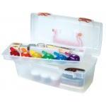 Artbin Essentials™ Lift Out Tray Coral Latches & Handle