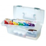 Artbin Essentials™ Lift Out Tray Aqua Latches & Handle