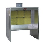Paasche FABSF Filter Booth Type Shelf 7' High: 8' Wide
