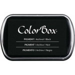ColorBox® Full Size Ink Pad Black: Black/Gray, Pad, Pigment, Full Size Rectangle, (model CS15082), price per each