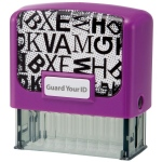 Guard Your ID Medium Stamp - Purple Alphabet