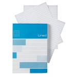 "Alvin® Saray Lined Pad 4.3 x 6.7: Pad, 80 Sheets, 4.3"" x 6.7"", Line, 20 lb, (model ALL14), price per 80 Sheets pad"