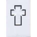 Cards/Envl - Cross motif - SATIN: Grey