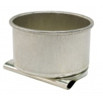 "Heritage Arts™ Aluminum Palette Cup Single: Metal, 1 1/2"", Cup"