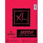 "Canson® XL® 9"" x 12"" Sketch Pad (Fold Over): Fold Over, White/Ivory, Pad, 125 Sheets, 9"" x 12"""