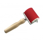"Heritage Arts™ Professional Hard Rubber Brayer 2 3/8"" : Red/Pink, 2"", Rubber, 2 3/8"""