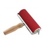 "Heritage Arts™ Professional Hard Rubber Brayer 2 x 6"" : Red/Pink, 2"", Rubber, 6"""