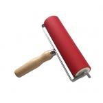 "Heritage Arts™ Professional Hard Rubber Brayer 2 x 8"" : Red/Pink, 2"", Rubber, 8"""