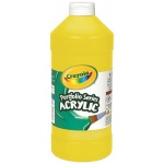 Crayola® Portfolio Series Acrylic Paint Brilliant Yellow: Yellow, Bottle, 16 oz, Acrylic, (model BAS260), price per each