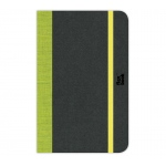 "Prat Paris Flexbook Notebooks Size: 3½"" x 5½"" - Lime Green - Blank"