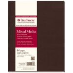 "Strathmore® 500 Series Soft Cover Mixed Media Journal 7.75"" x 9.75"": Sewn Bound, White/Ivory, Journal, 64 Pages, 7 3/4"" x 9 3/4"", Vellum, Mixed Media, 90 lb, (model ST567-7), price per each"