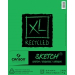 "Canson® XL® 11"" x 14"" Recycled Sketch Pad (Fold Over): Fold Over, White/Ivory, Pad, 100 Sheets, 11"" x 14"", Medium, (model C100510923), price per 100 Sheets pad"